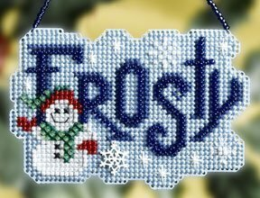Frosty Winter Greeting - Beaded Cross Stitch Kit