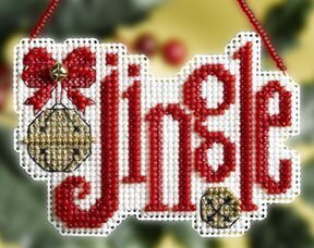 Jingle Winter Greeting - Beaded Cross Stitch Kit