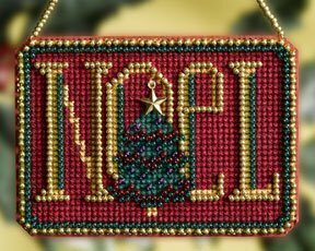 Noel Winter Greeting - Beaded Cross Stitch Kit