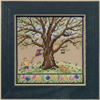 Spring Oak - Beaded Cross Stitch