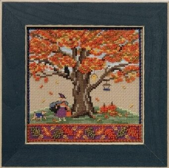 Fall Oak - Beaded Cross Stitch