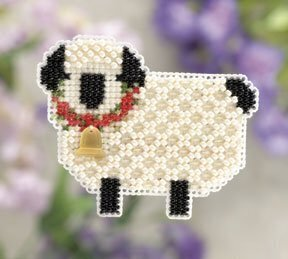 Little Lamb - Beaded Cross Stitch Kit
