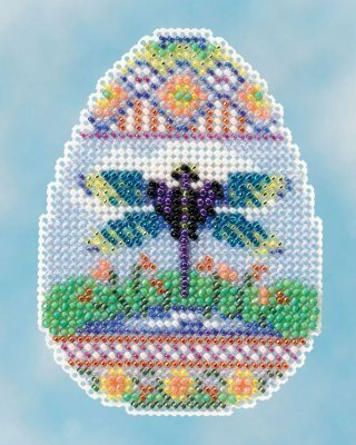 Dragonfly Egg - Beaded Cross Stitch Kit