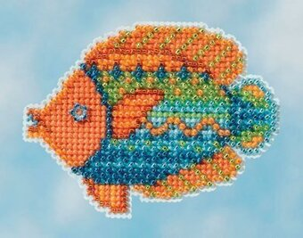 Fancy Fish - Beaded Cross Stitch Kit