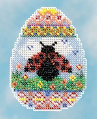 Ladybug Egg - Beaded Cross Stitch Kit
