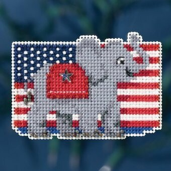 Patriotic Red - Beaded Cross Stitch Kit