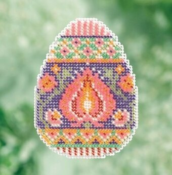 Lotus Egg - Beaded Cross Stitch Kit
