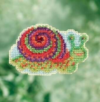 Snail - Beaded Cross Stitch Kit