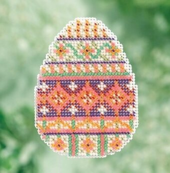 Trellis Egg - Beaded Cross Stitch Kit