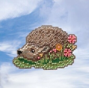 Hedgehog - Beaded Cross Stitch Kit
