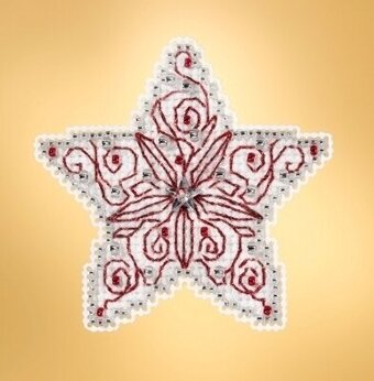 Filagree Star - Beaded Cross Stitch Kit