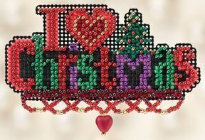I Love Christmas - Beaded Cross Stitch Kit