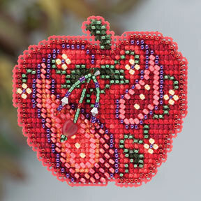 Jeweled Apple - Beaded Cross Stitch Kit