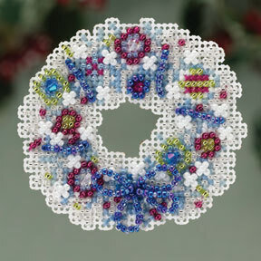 Crystal Wreath - Beaded Cross Stitch Kit