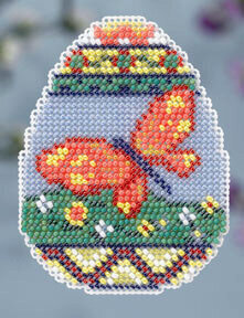 Butterfly Egg - Beaded Cross Stitch Kit
