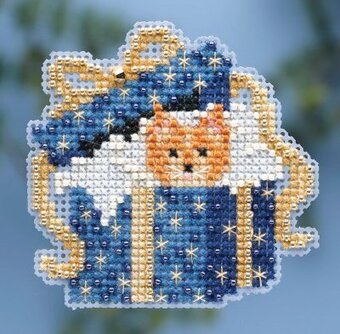 Cat In The Box - Beaded Cross Stitch Kit