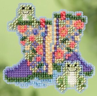 Garden Boots - Beaded Cross Stitch Kit