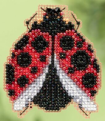Ladybug Hug - Beaded Cross Stitch Kit