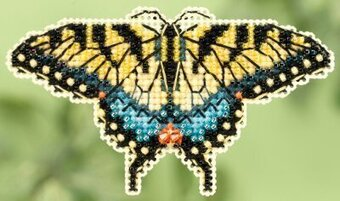 Yellow Swallowtail - Beaded Cross Stitch Kit