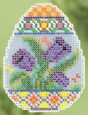 Tulip Egg - Beaded Cross Stitch Kit