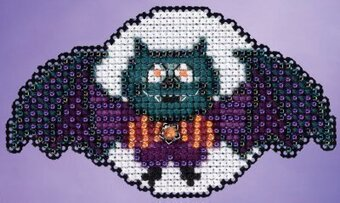 Boris the Bat - Beaded Cross Stitch Kit