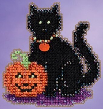 Wendy's Cat - Beaded Cross Stitch Kit