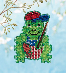 Gone Fishin' Froggie - Beaded Cross Stitch Kit