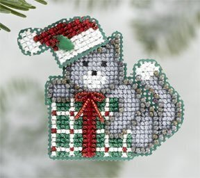 Kitty's Gift - Beaded Cross Stitch Kit