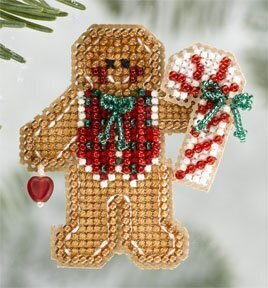 Gingerbread Boy 2006 - Beaded Cross Stitch Kit