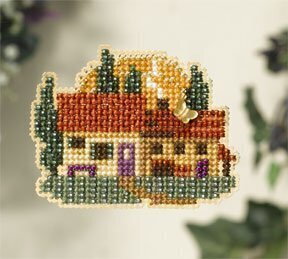 Tuscan Cottage - Beaded Cross Stitch Kit