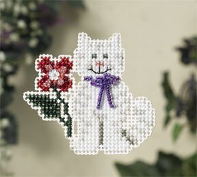 Tropical Kitty - Beaded Cross Stitch Kit