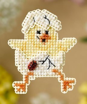 Spring Chick - Beaded Cross Stitch Kit