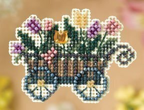 Garden Cart - Beaded Cross Stitch Kit