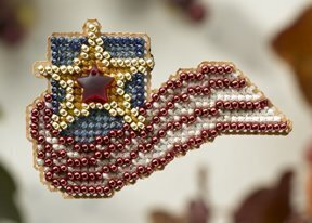 Stars and Stripes - Beaded Cross Stitch Kit