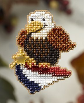 American Eagle - Beaded Cross Stitch Kit