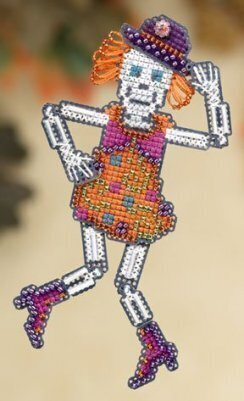 Mrs. Bones - Beaded Cross Stitch Kit