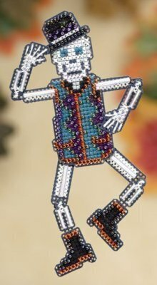 Mr. Bones - Beaded Cross Stitch Kit