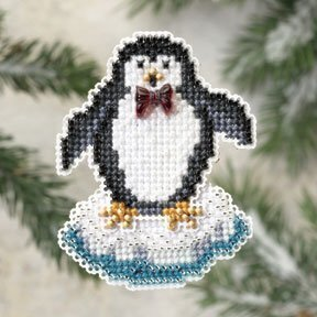 Proud Penguin - Beaded Cross Stitch Kit