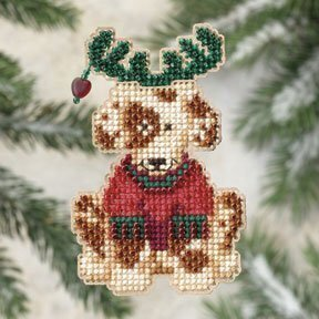 Reindog - Beaded Cross Stitch Kit