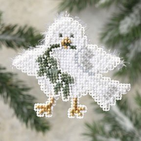 Downy Dove - Beaded Cross Stitch Kit