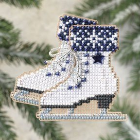 Ice Skates - Beaded Cross Stitch Kit