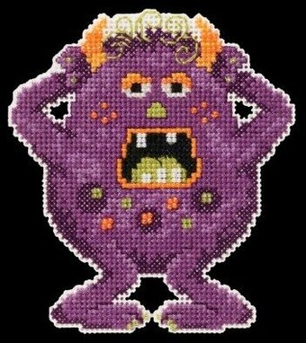 Freckles Little Monsters - Beaded Cross Stitch Kit
