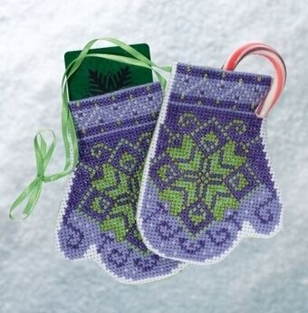 Star Mittens - Beaded Cross Stitch Kit
