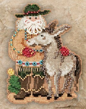 Desert Santa - Beaded Cross Stitch Kit