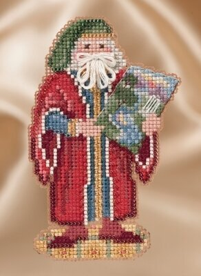 Florence Santa - Renaissance Santas - Beaded Cross Stitch