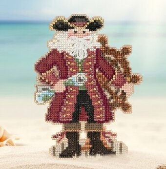 Jamaica Santa - Caribbean Santas - Beaded Cross Stitch