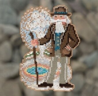Yellowstone Santa - Beaded Cross Stitch Kit