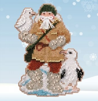 Albatross Santa - Beaded Cross Stitch Kit