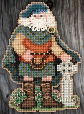 Celtic Scotland Santa (2015) - Beaded Cross Stitch Kit
