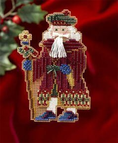 Avignon Santa - Medieval Santas - Beaded Cross Stitch Kit